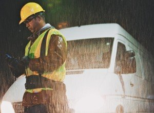 Working in rain